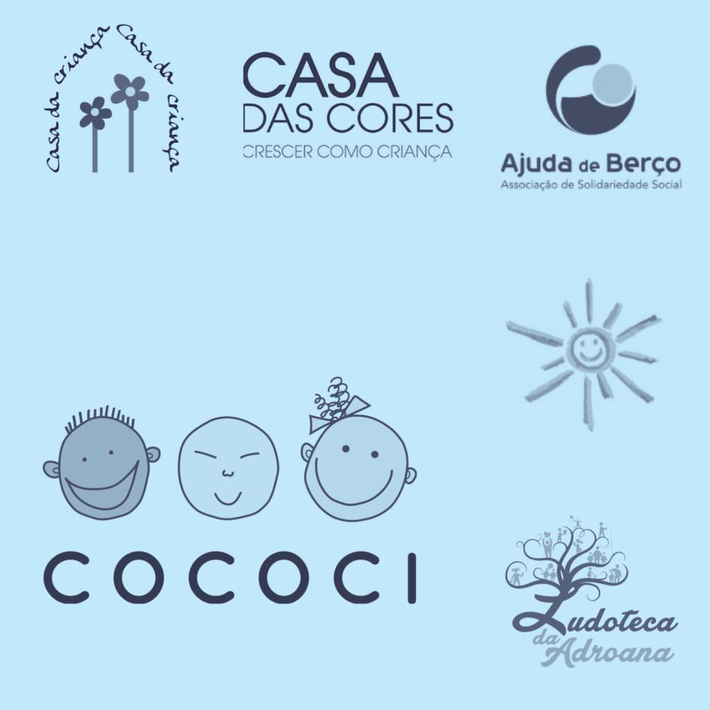 Ensemble de logo d'associations caritatives